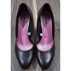 Isaac Mizrahi Riley Brown Leather Pumps Heels 8.5